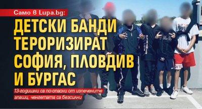 Само в Lupa.bg: Детски банди тероризират София, Пловдив и Бургас