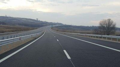 """Движението на магистрала """"Струма"""" в едната лента днес"""