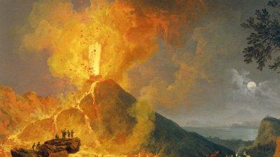 Мозък на мъж се е превърнал в стъкло при изригването на Везувий