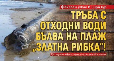 """Фекален ужас в Lupa.bg! Тръба с отходни води бълва на плаж """"Златна рибка""""!"""