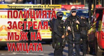 Терористична атака в Лондон: Полицията застреля мъж на улицата