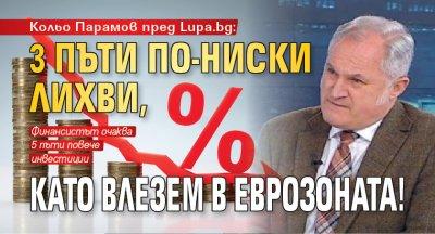 Кольо Парамов пред Lupa.bg: 3 пъти по-ниски лихви, като влезем в еврозоната!