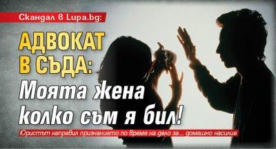Скандал в Lupa.bg: Адвокат в съда: Моята жена колко съм я бил!