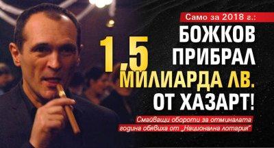 Само за 2018 г.: Божков прибрал 1,5 милиарда лв. от хазарт!