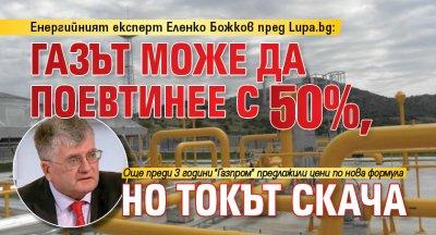 Енергийният експерт Еленко Божков пред Lupa.bg: Газът може да поевтинее с 50%, но токът скача