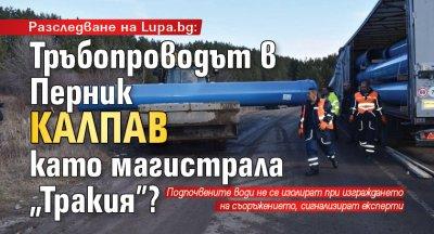 """Разследване на Lupa.bg: Тръбопроводът в Перник калпав като магистрала """"Тракия""""?"""