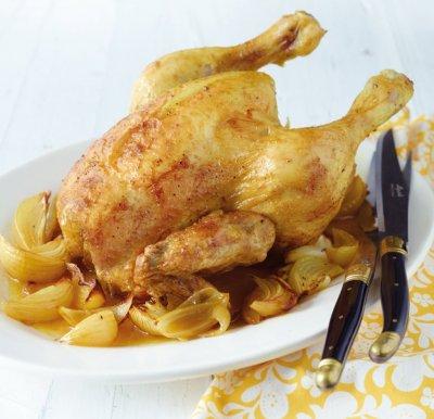 Къри печено пиле