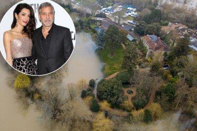 Темза заля имението на Джордж Клуни (СНИМКИ)
