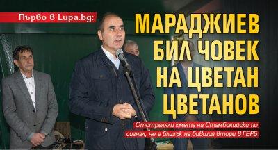 Първо в Lupa.bg: Мараджиев бил човек на Цветан Цветанов