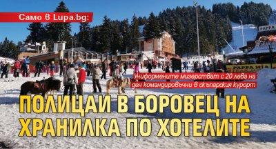 Само в Lupa.bg: Полицаи в Боровец на хранилка по хотелите