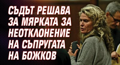 Съдът решава за мярката за неотклонение на съпругата на Божков