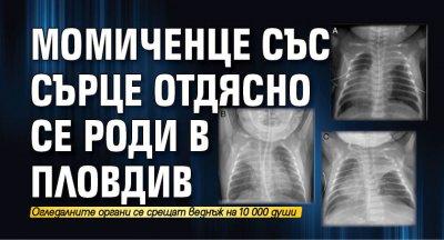 Момиченце със сърце отдясно се роди в Пловдив
