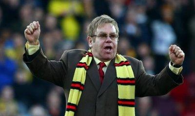 Сър Елтън Джон по повод успеха на своя Уотфорд с 3:0 над Ливърпул