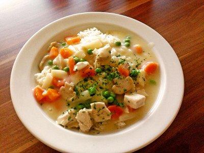 Зеленчуково пиле фрикасе