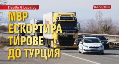 Първо в Lupa.bg: МВР ескортира тирове до Турция (ГАЛЕРИЯ)