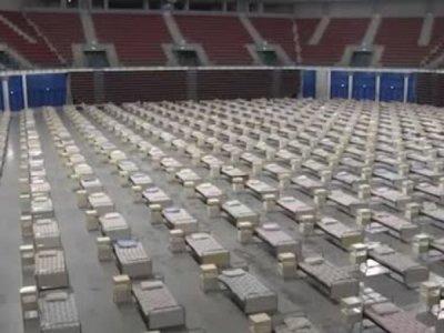 Подготвят спортната зала във Варна за полева болница