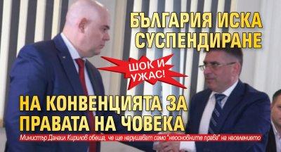 ШОК И УЖАС! България иска суспендиране на Конвенцията за правата на човека