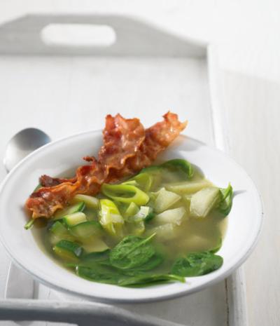 Спаначена супа с алабаш