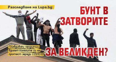 Разследване на Lupa.bg: Бунт в затворите за Великден?