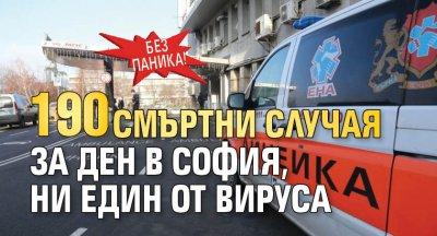 Без паника! 190 смъртни случая за ден в София, ни един от вируса
