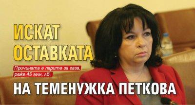 Искат оставката на Теменужка Петкова