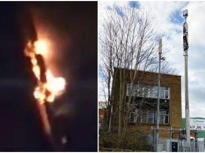 Конспиратори подпалиха антена за 5G мрежа