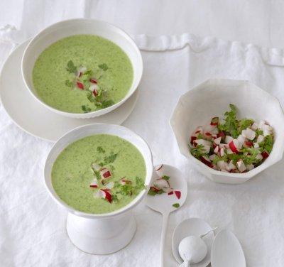 Магданозена супа с репички