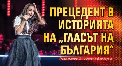 """Прецедент в историята на """"Гласът на България"""""""