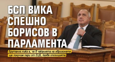 БСП вика спешно Борисов в парламента