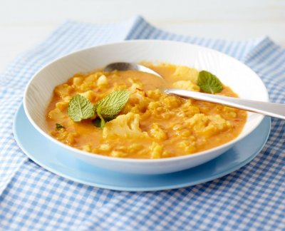 Супа леща с карфиол и джинджифил