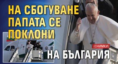 На сбогуване папата се поклони на България (СНИМКИ)