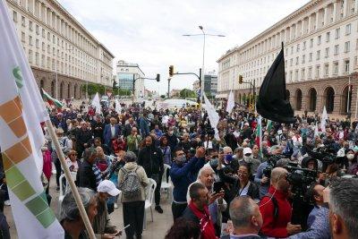Само 200 човека на протеста на Мая Манолова (СНИМКИ)
