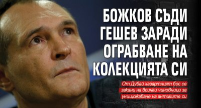 Божков съди Гешев заради ограбване на колекцията си
