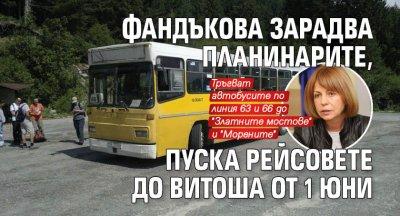 Фандъкова зарадва планинарите, пуска рейсовете до Витоша от 1 юни