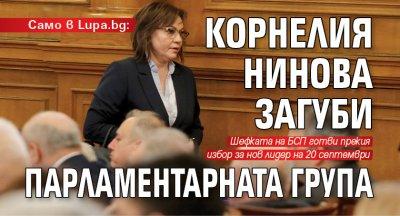 Само в Lupa.bg: Корнелия Нинова загуби парламентарната група