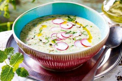 Ментова супа с репички
