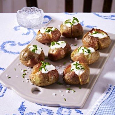 Печени картофки с крем сирене