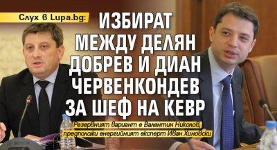 Слух в Lupa.bg: Избират между Делян Добрев и Диан Червенкондев за шеф на КЕВР