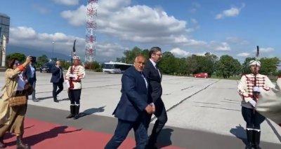 Борисов посрещна Александър Вучич (ВИДЕО)