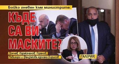 Бойко гневен към министрите: Къде са ви маските? (ГАЛЕРИЯ)