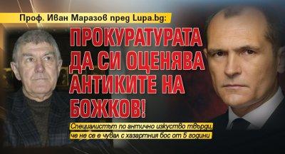 Проф. Иван Маразов пред Lupa.bg: Прокуратурата да си оценява антиките на Божков!