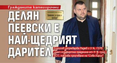 Гражданите категорични: Делян Пеевски е най-щедрият дарител