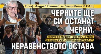 Проф. Андрей Пантев за бунтовете в САЩ: Черните ще си останат черни, неравенството остава