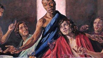 """Тъмнокож модел стана Христос в """"Тайната вечеря"""""""