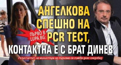 Първо в Lupa.bg: Ангелкова спешно на PCR тест, контактна е с брат Динев