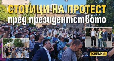 Стотици на протест пред президентството (СНИМКИ)