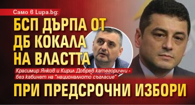 Само в Lupa.bg: БСП дърпа от ДБ кокала на властта при предсрочни избори