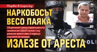 Първо в Lupa.bg: Наркобосът Весо Паяка излезе от ареста