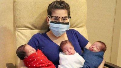 Бременна пребори COVID-19 и роди здрави тризнаци