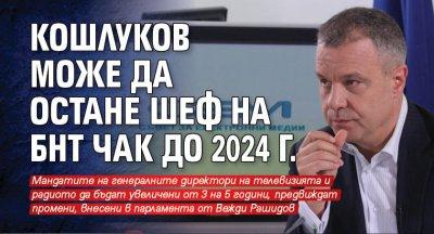 Кошлуков може да остане шеф на БНТ чак до 2024 г.